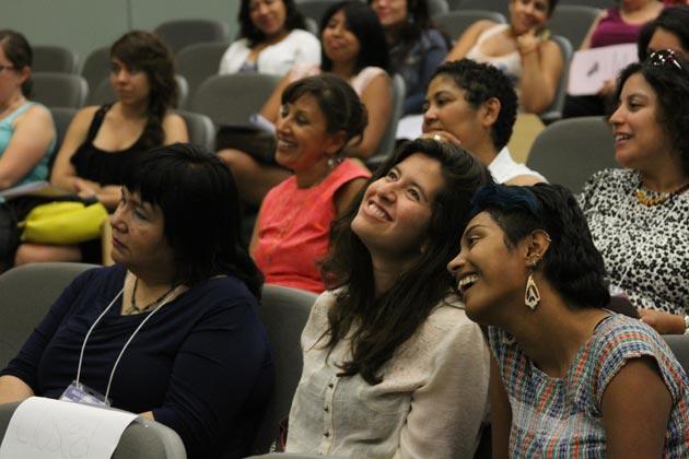 Conference Participants Enjoying Performances at Noche de Cultura, July 18, 2013 at Hagerty Hall.