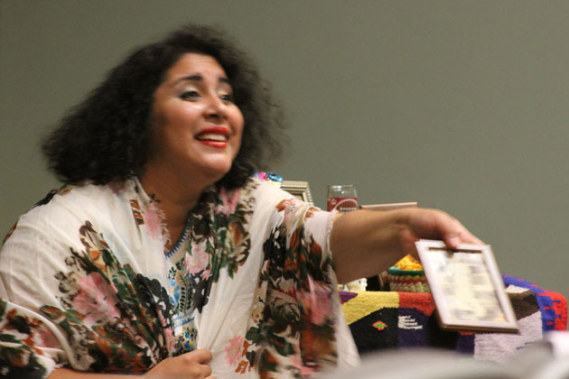 Alison Vasquez performing 'La Flor de la Canela,' Hagerty Hall, July 18, 2013.