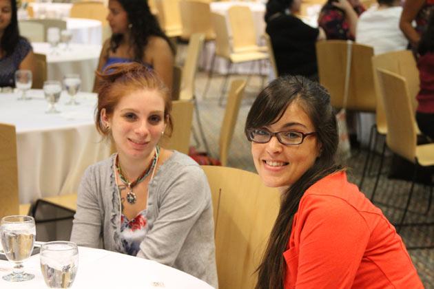 OSU Graduate Students Reyna Esquivel-King and Maria Barbero.