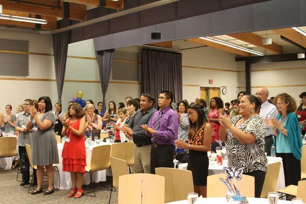 Participants Celebrating Collective Achievements at Banquet.