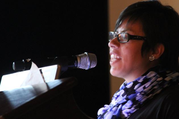 Alma Diaz Fisher speaking on 'Dream Activism in Ohio.'